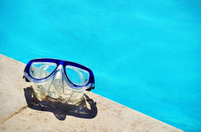 swimming glass for eye protection